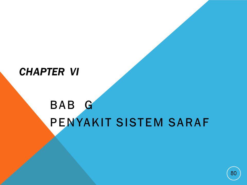 CHAPTER VI BAB G PENYAKIT SISTEM SARAF 80