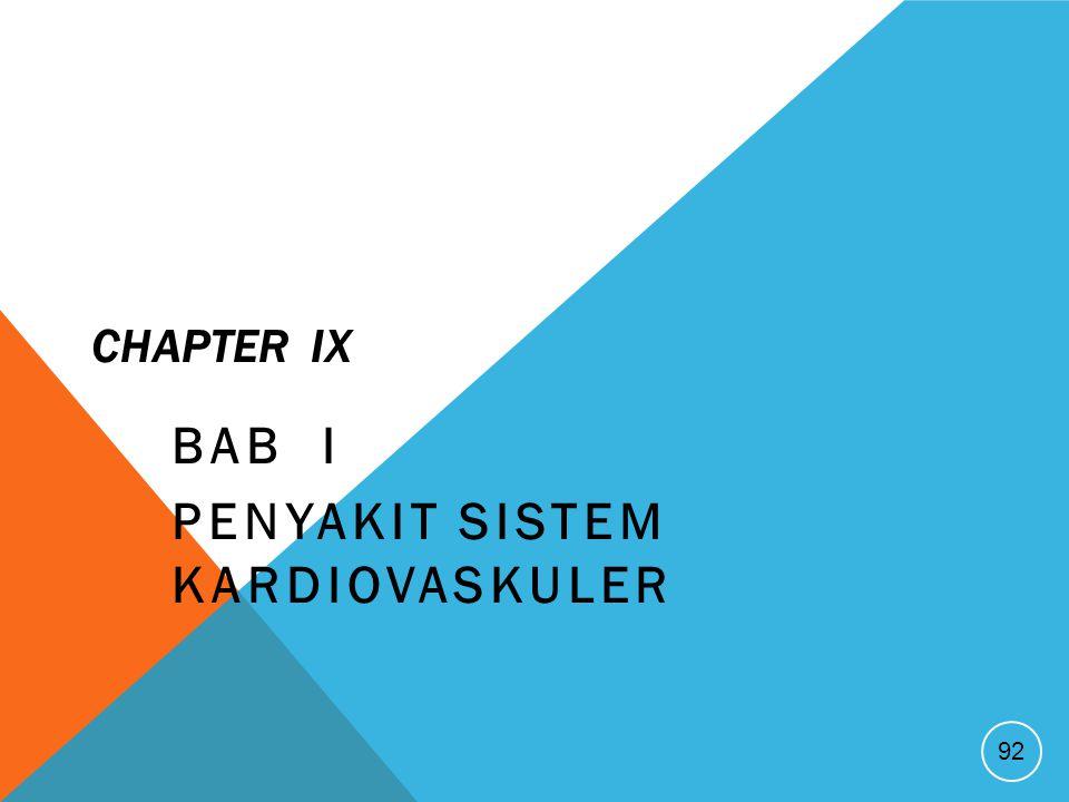 CHAPTER IX BAB I PENYAKIT SISTEM KARDIOVASKULER 92