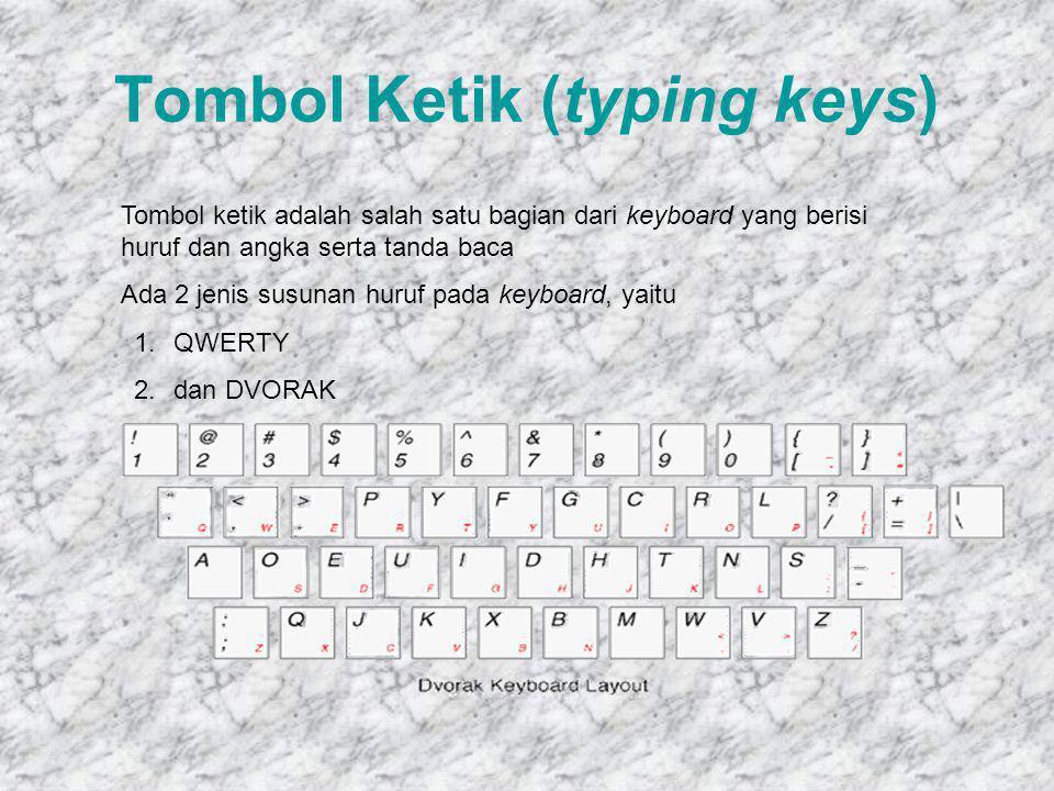 Fungsi Keyboard Untuk memindahkan Kursor/insert point: Memindahkan kursor Memindahkan kursor ke awal baris / akhir baris Memindahkan kursor 1 layar ke atas / bawah