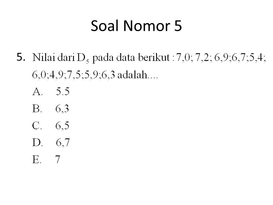SOAL NOMOR 6 Suatu data mempunyai rata-rata 35 dan jangkauan 7.Jika setiap nilai dalam data dikalikan p kemudian dikurangi nilai q diperoleh data baru dengan rata-rata 42 dan jangkauan 9, nilai 7p-q=…..