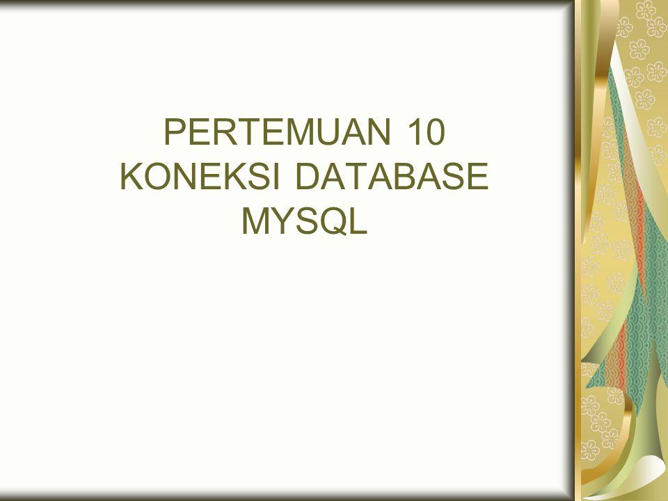 Mengelola Database Menggunakan Phpmyadmin PHPMyAdmin dibuat khusus untuk mengelola database MySQL, Aplikasi ini free dan dapat di- download di mysql.com, sourceforge.net dan situs web lain yang berhubungan dengan PHP dan MySQL.
