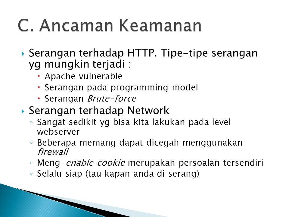  Serangan terhadap HTTP.