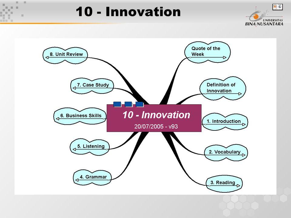 10 - Innovation