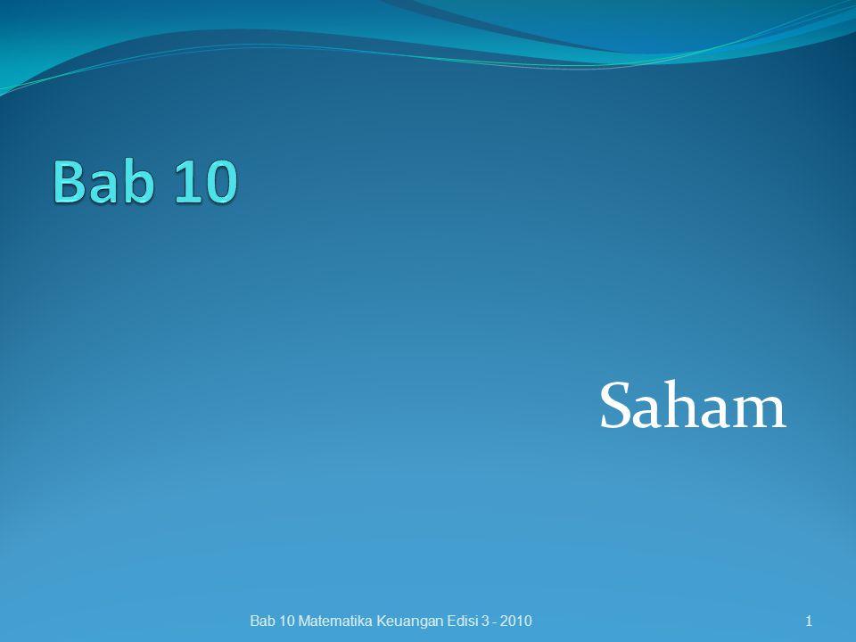 Saham 1Bab 10 Matematika Keuangan Edisi 3 - 2010
