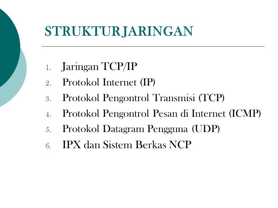 STRUKTUR JARINGAN 1. Jaringan TCP/IP 2. Protokol Internet (IP) 3.