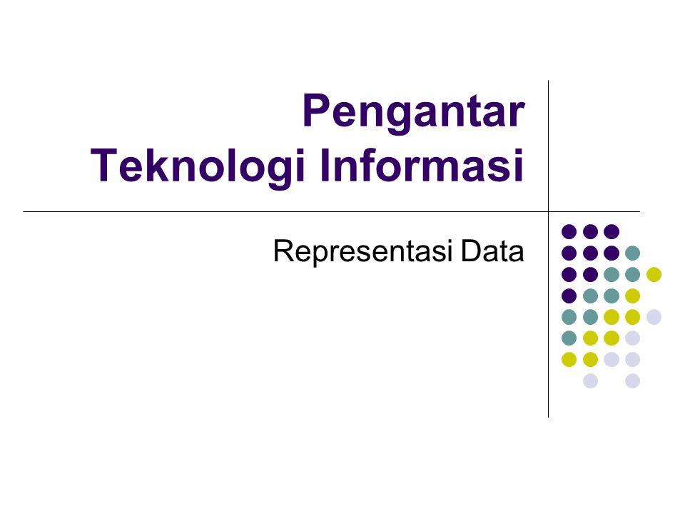 Sistem Bilangan Bilangan adl representasi fisik dari data yg diamati.