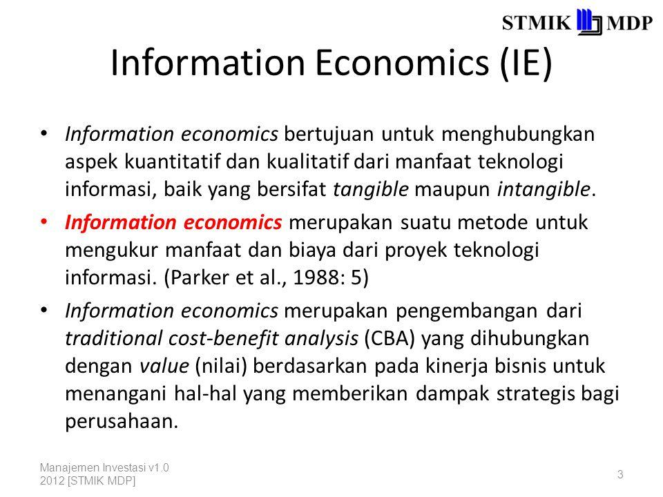 Why Information Economics.