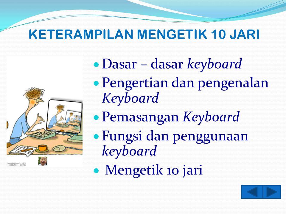 Tips menggunakan keyboard D.