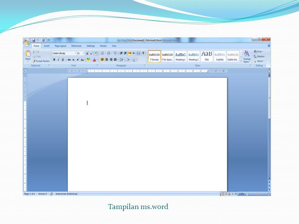 Tampilan ms.word