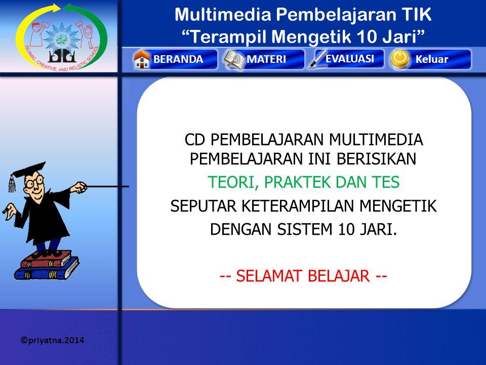 Keluar MAIN PETUNJUK PENGEMBANG ©priyatna.2014 SK & KD Pengembang Media Nama: Aang Priyatna, S.Pd TTL: Bangkalan, 8 Juli 1992 Pekerjaan: Guru Lembaga: