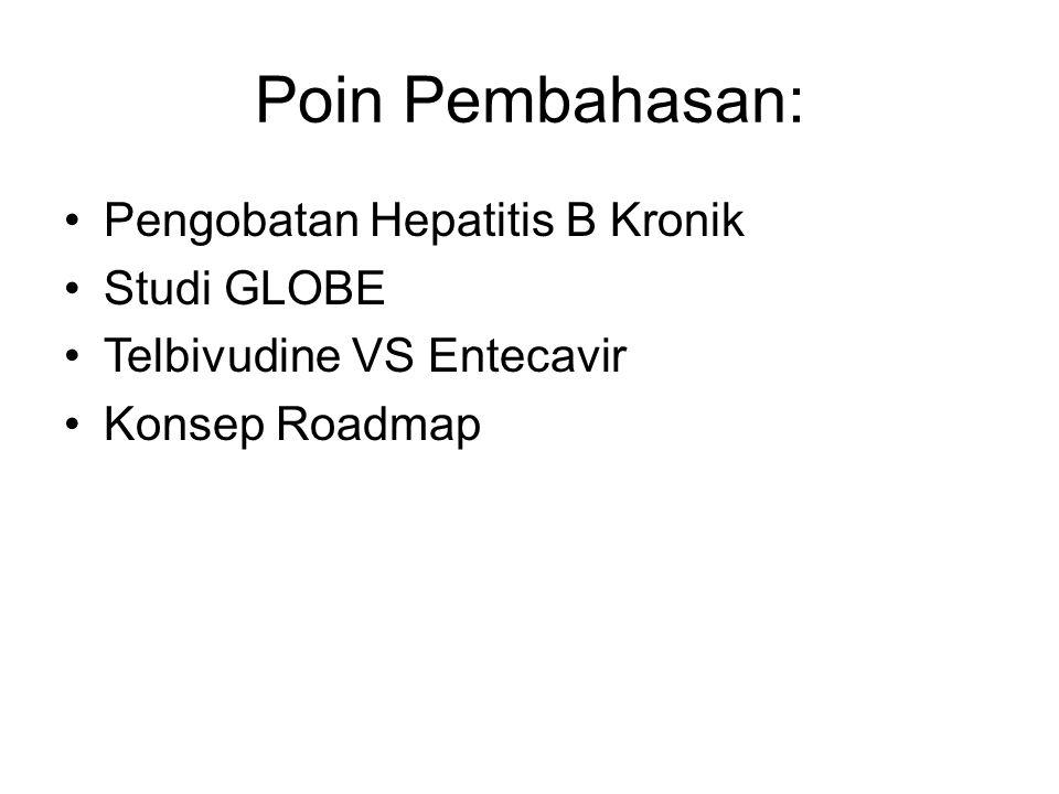 Poin Pembahasan: Pengobatan Hepatitis B Kronik Studi GLOBE Telbivudine VS Entecavir Konsep Roadmap