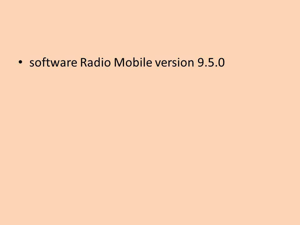 software Radio Mobile version 9.5.0