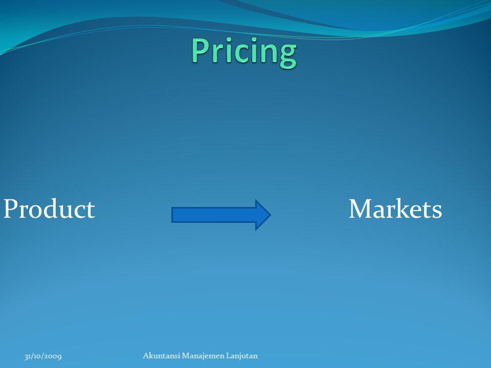 Product Markets 31/10/2009Akuntansi Manajemen Lanjutan