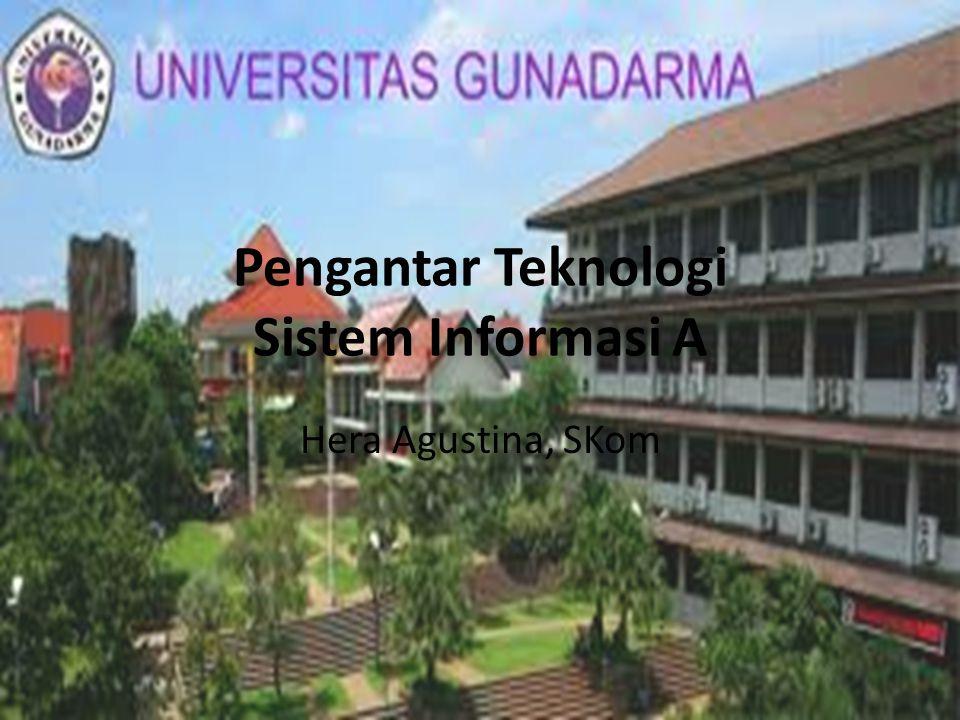 Pengantar Teknologi Sistem Informasi A Hera Agustina, SKom