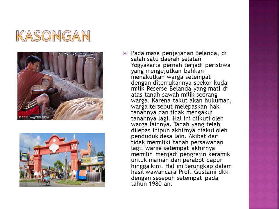  Pada masa penjajahan Belanda, di salah satu daerah selatan Yogyakarta pernah terjadi peristiwa yang mengejutkan bahkan menakutkan warga setempat dengan ditemukannya seekor kuda milik Reserse Belanda yang mati di atas tanah sawah milik seorang warga.