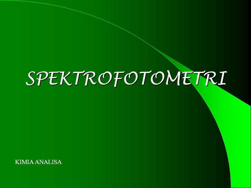 SPEKTROFOTOMETRI KIMIA ANALISA