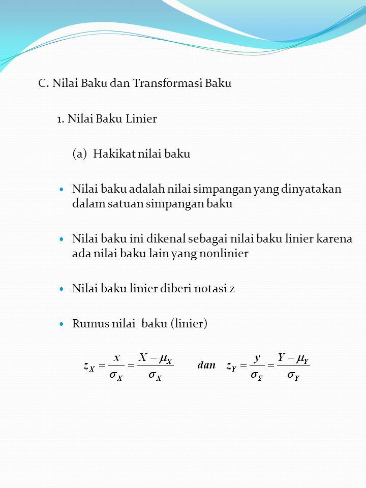 C.Nilai Baku dan Transformasi Baku 1.