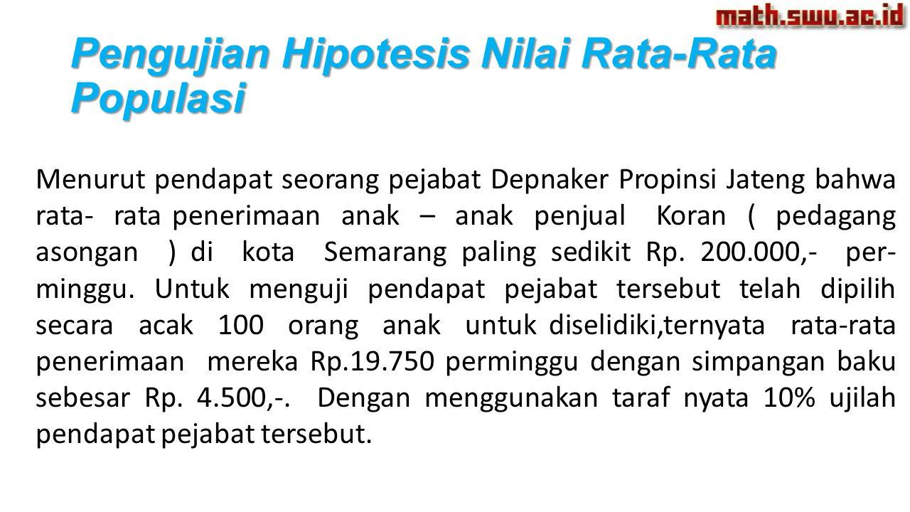 Menurut pendapat seorang pejabat Depnaker Propinsi Jateng bahwa rata- rata penerimaan anak – anak penjual Koran ( pedagang asongan ) di kota Semarang paling sedikit Rp.