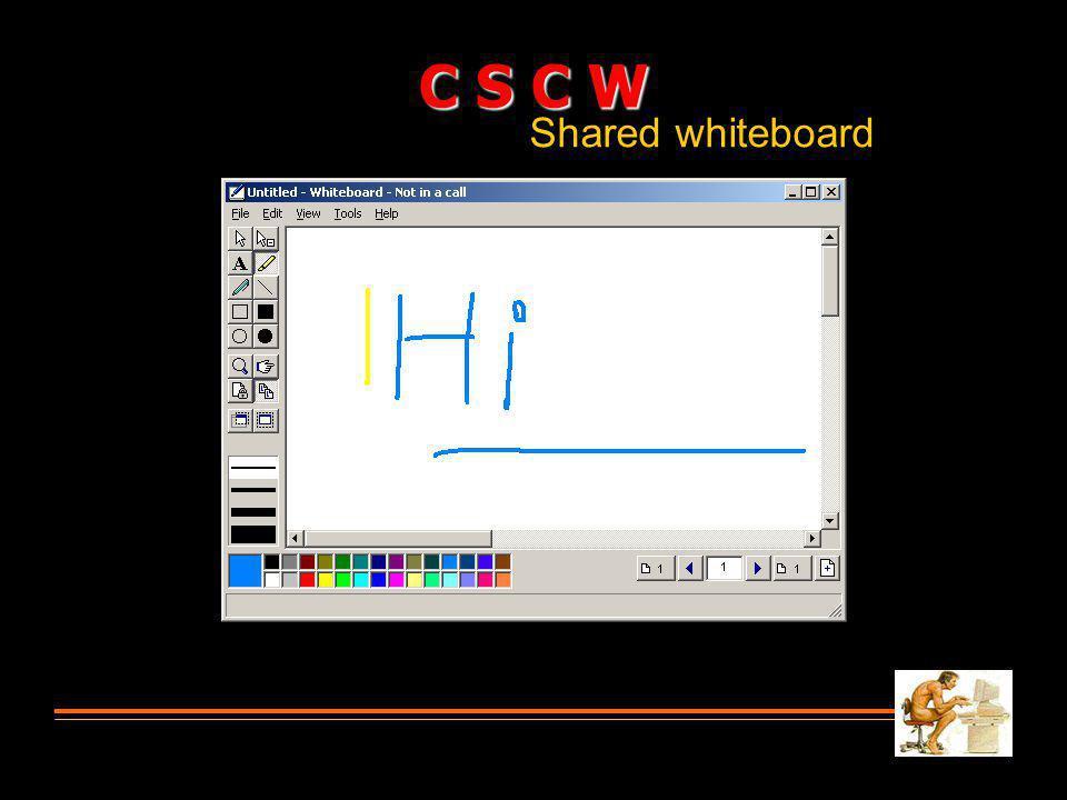 Shared whiteboard C S C W