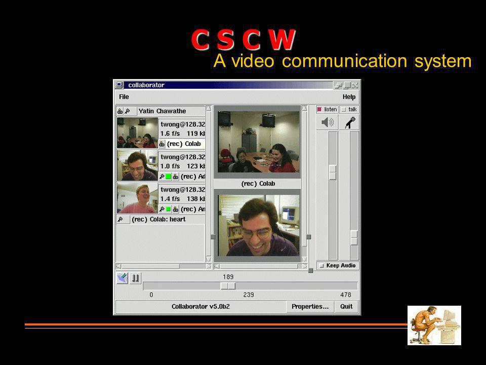 A video communication system C S C W