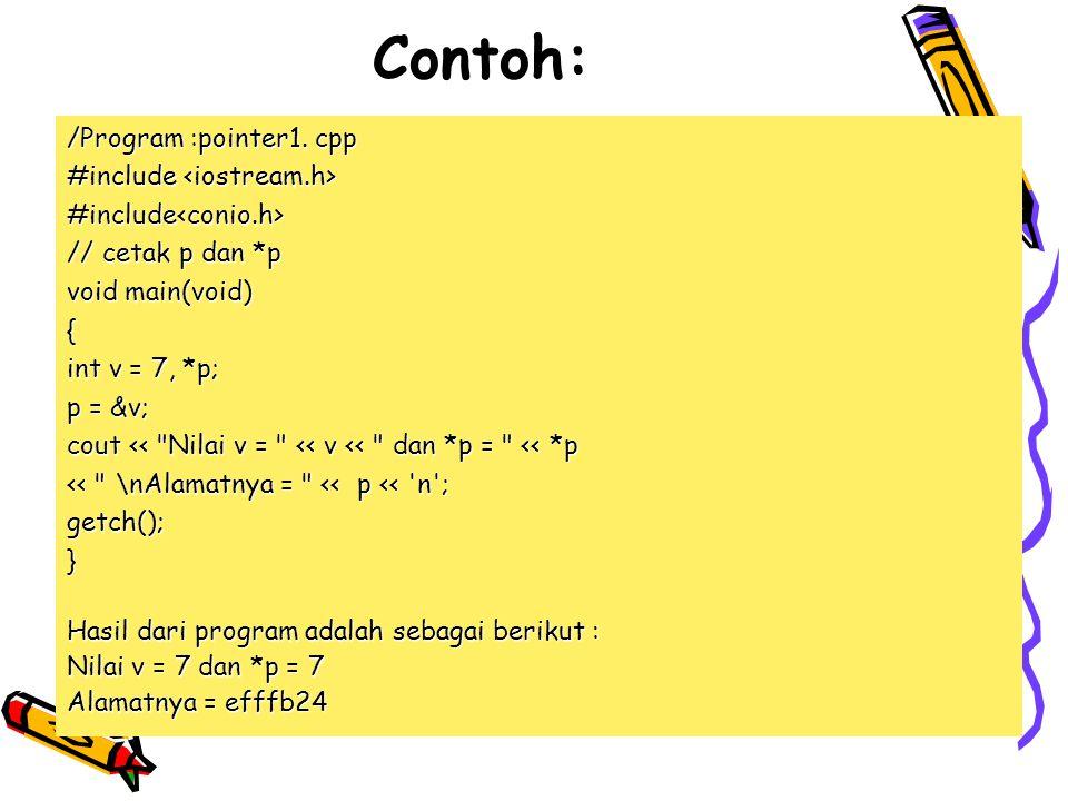 Contoh: /Program :pointer1.