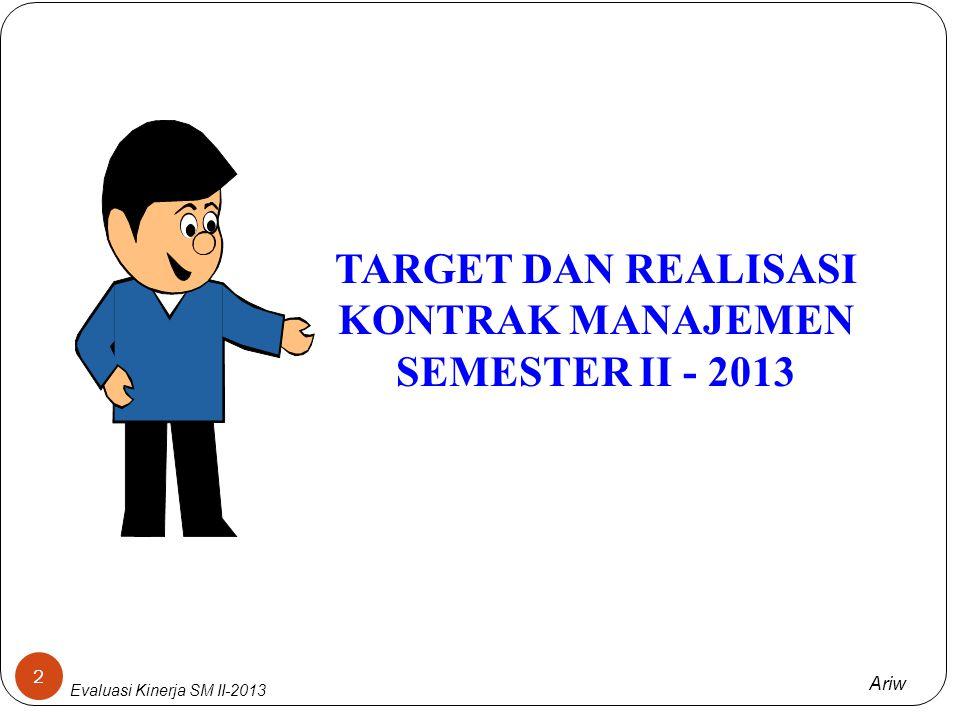 Ariw EVALUASI KINERJA SEMESTER II - 2013 PT PLN (Persero) PUSAT PEMELIHARAAN KETENAGALISTRIKAN (PUSHARLIS)