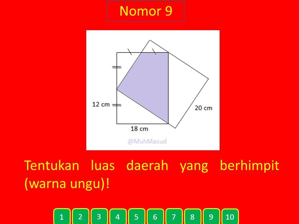 Nomor 9 Tentukan luas daerah yang berhimpit (warna ungu)! 1 2 3 4 5 6 7 8 9 10