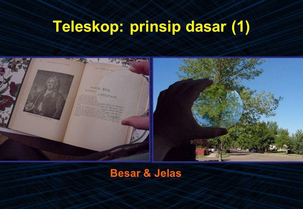 Teleskop: prinsip dasar (1) Besar & Jelas