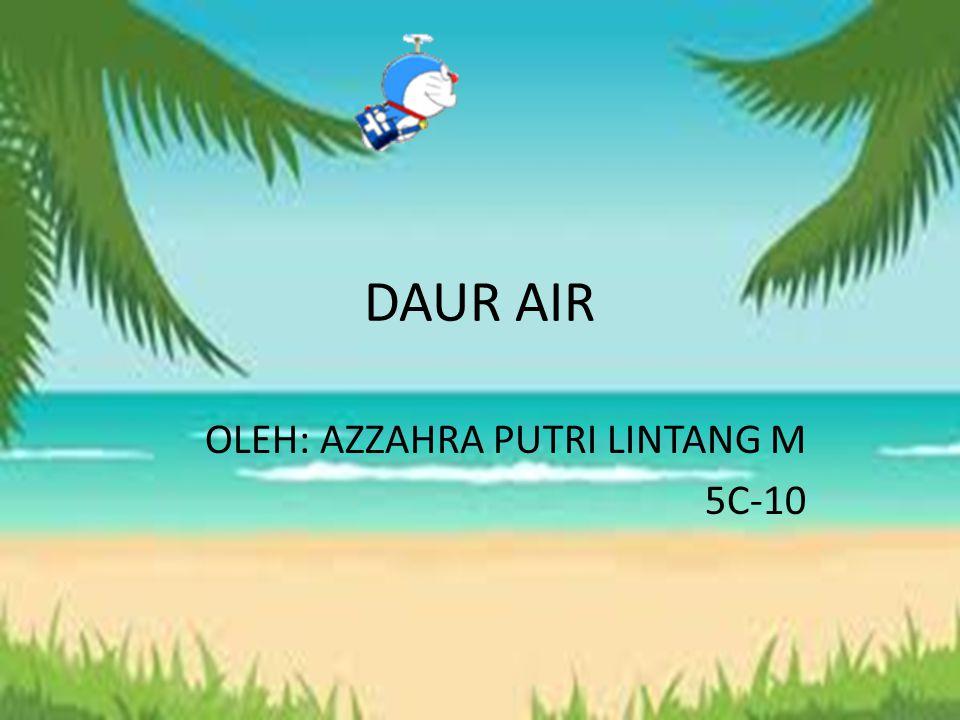 DAUR AIR OLEH: AZZAHRA PUTRI LINTANG M 5C-10