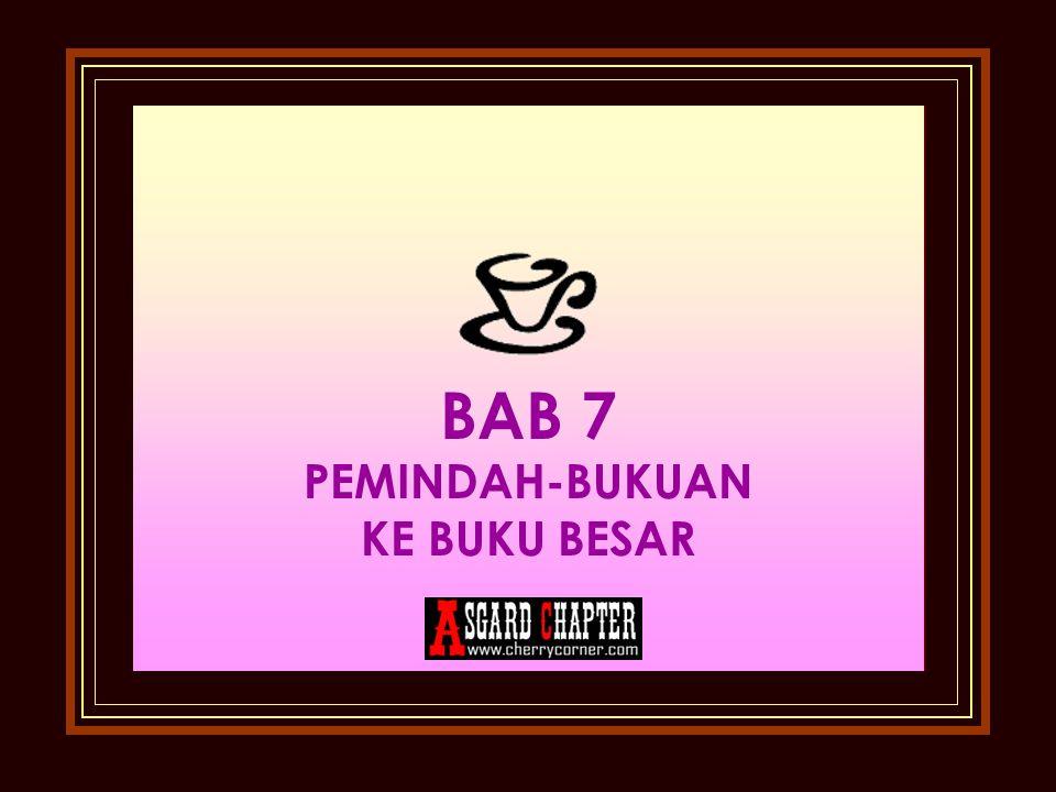 BAB 7 PEMINDAH-BUKUAN KE BUKU BESAR