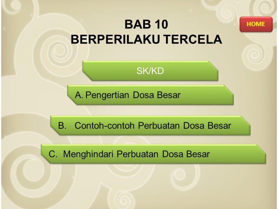 BAB 10 BERPERILAKU TERCELA SK/KD A.Pengertian Dosa BesarPengertian Dosa Besar A.Pengertian Dosa BesarPengertian Dosa Besar B.