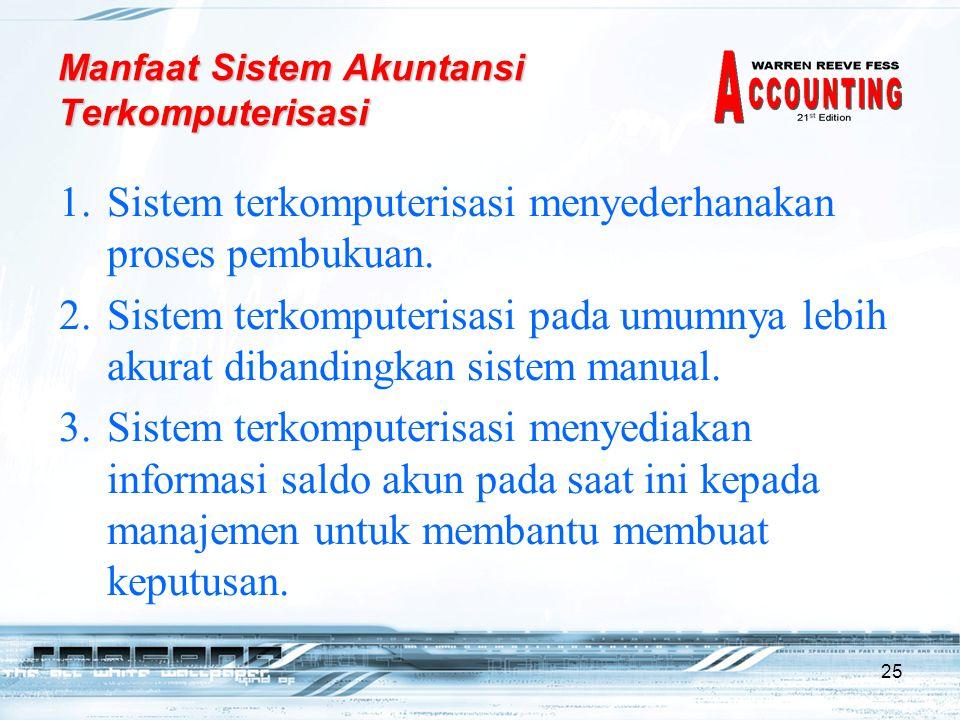 25 1.Sistem terkomputerisasi menyederhanakan proses pembukuan.