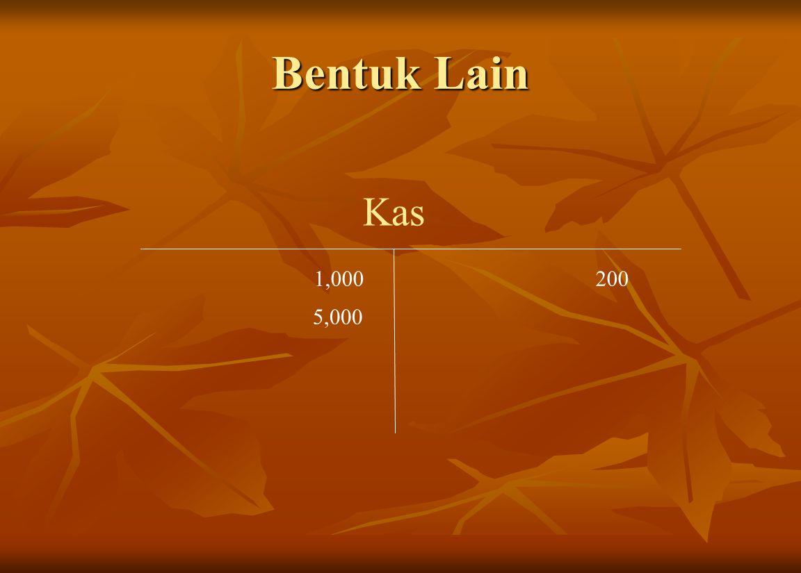 Bentuk Lain Kas 1,000200 5,000