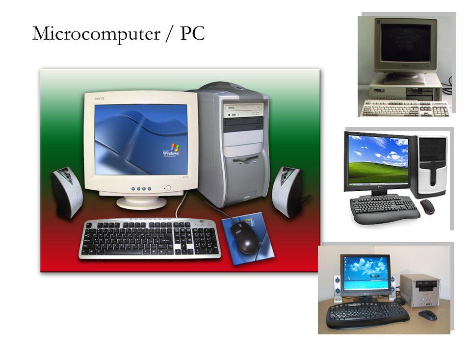 CPU dan Memori Utama Central processing unit (CPU) terdiri dari unit kontrol dan unit aritmatik/logic (ALU) Memori utama menangani data di dalam penyimpanan sementara, kapasitasnya bervariasi tergantung jenis komputernya