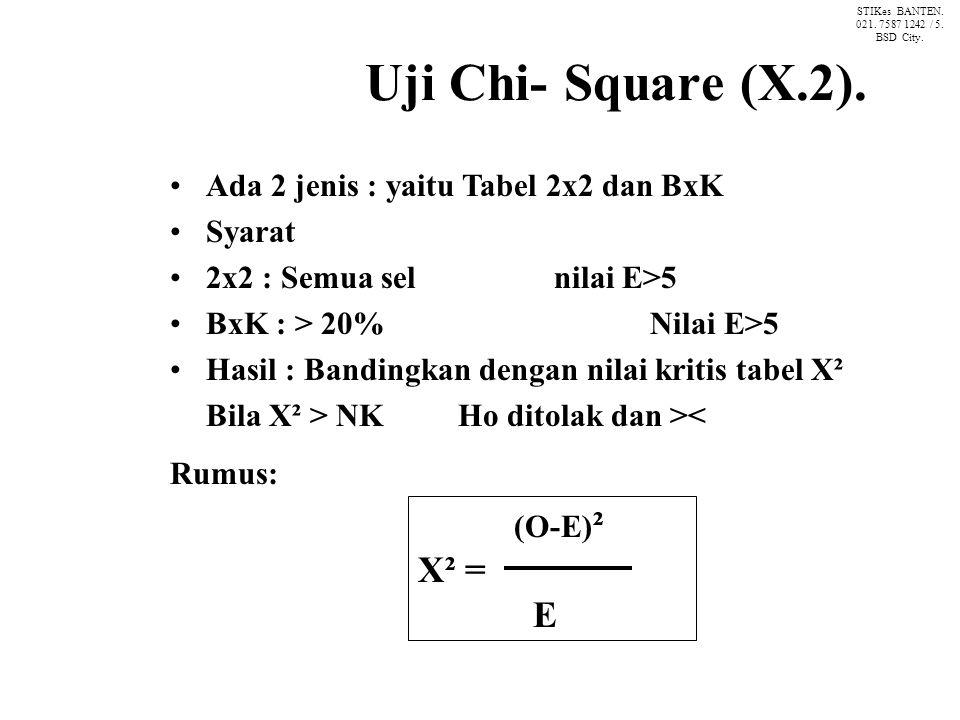 Uji Chi- Square (X.2).
