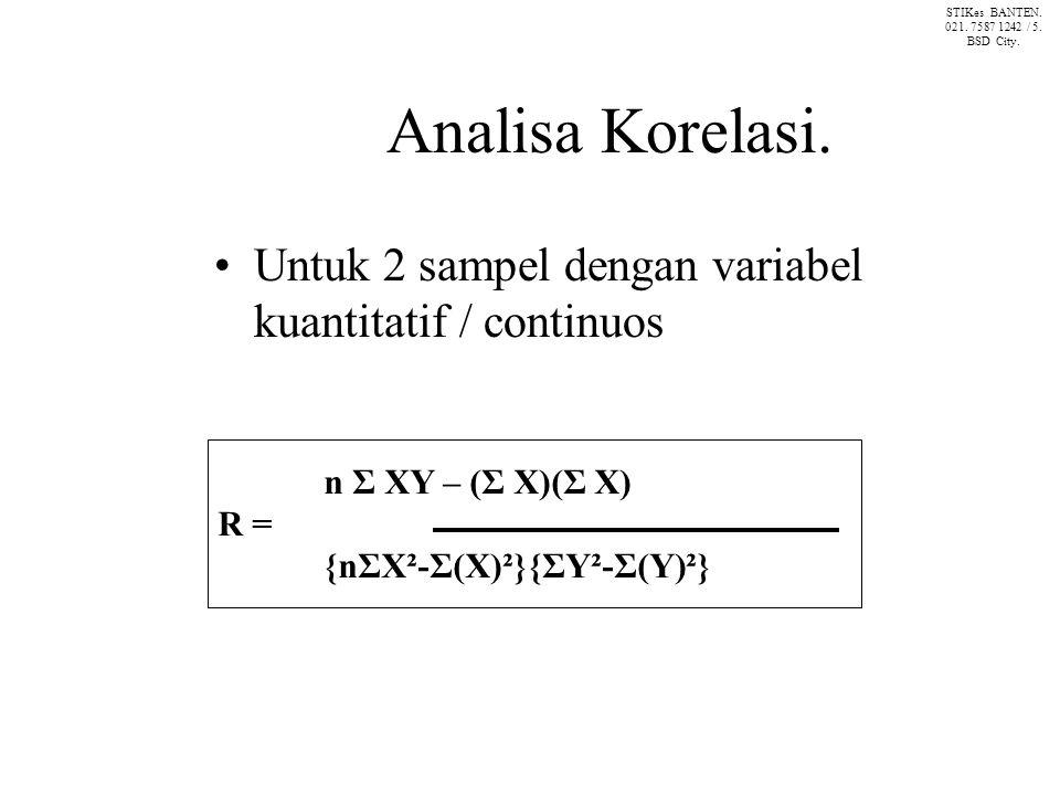 Analisa Korelasi.