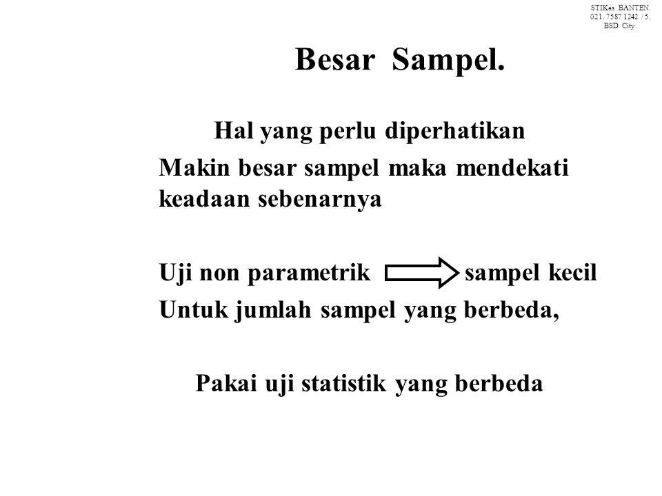 Besar Sampel.