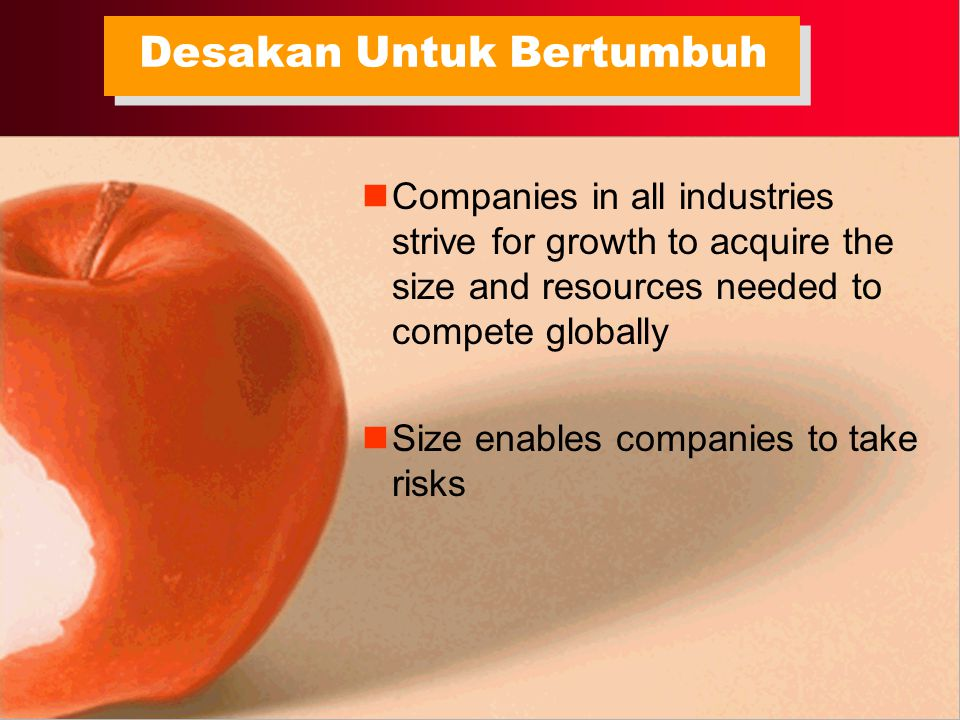 Large organizations are able to get back to business more quickly following a disaster Large companies are standardized, mechanistic and complex Small companies are flexible and can be responsive Dilema Menjadi Organisasi Besar