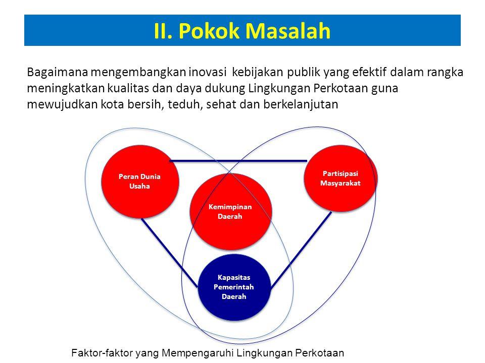 III.Inovasi Kebijakan untuk Mewujudkan Kota Berkelanjutan a.