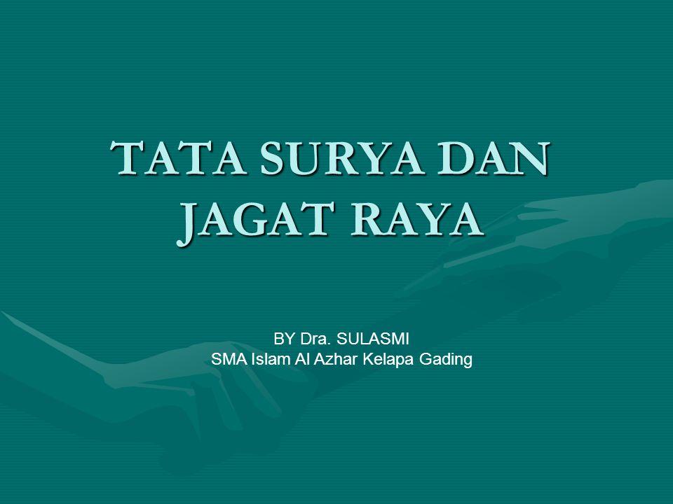 TATA SURYA DAN JAGAT RAYA BY Dra. SULASMI SMA Islam Al Azhar Kelapa Gading