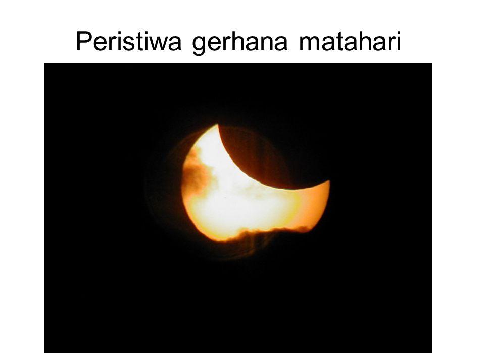 Peristiwa gerhana matahari