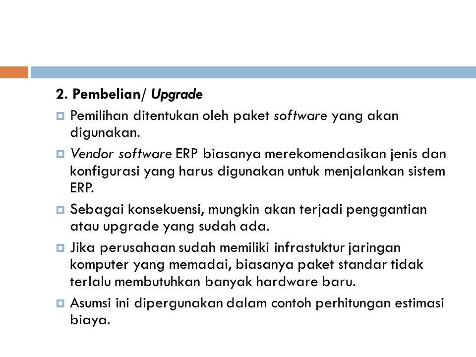 2.Pembelian/ Upgrade  Pemilihan ditentukan oleh paket software yang akan digunakan.