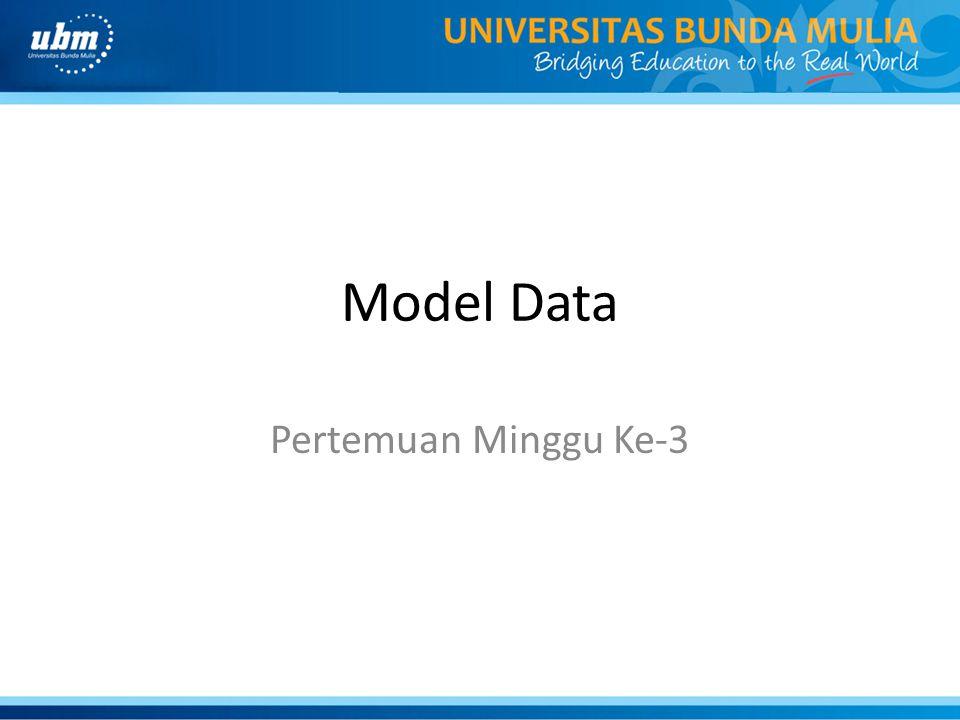 Model Data Pertemuan Minggu Ke-3