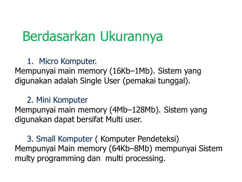 1 4.Medium Komputer Mempunyai main memory (512 Kb - 8 Mb).
