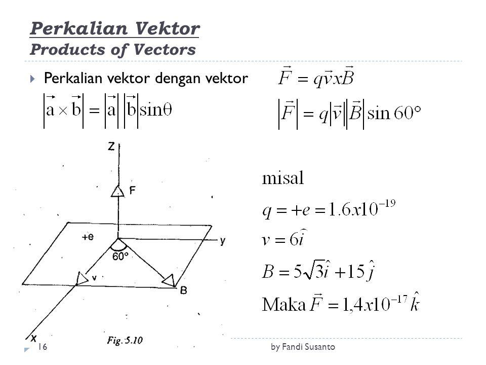 Perkalian Vektor Products of Vectors  Perkalian vektor dengan vektor 16by Fandi Susanto