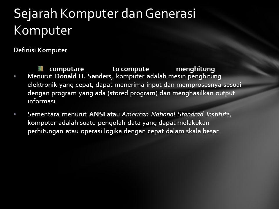 Definisi Komputer Menurut Donald H.