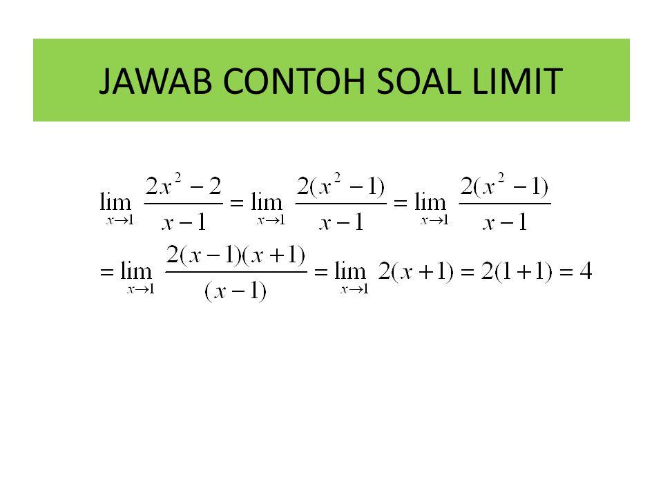 JAWAB CONTOH SOAL LIMIT