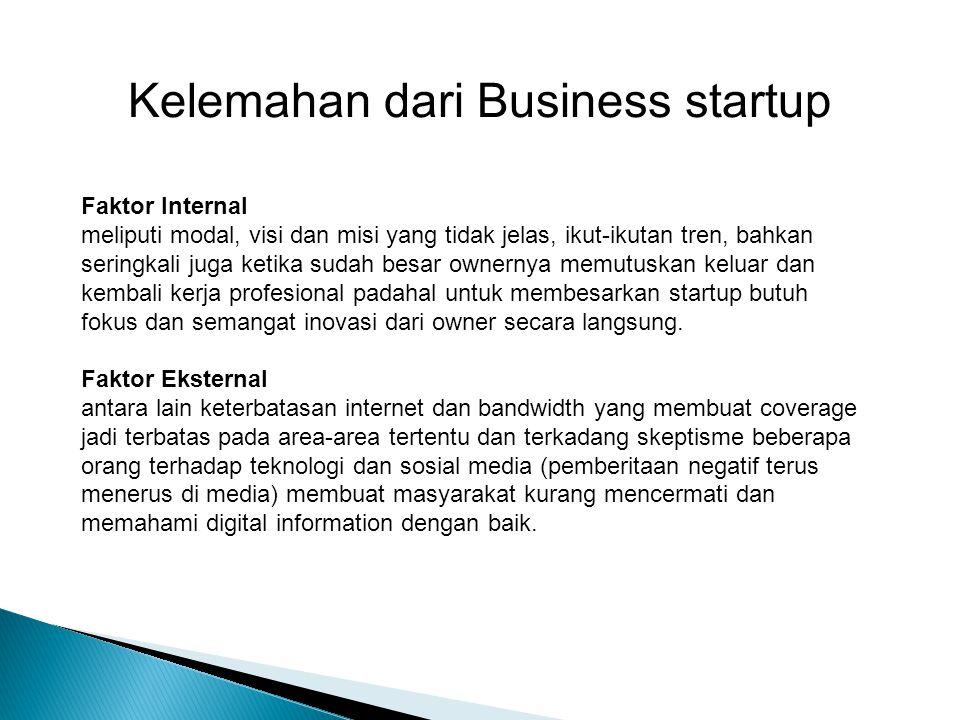 Mengapa Business startup di indonesia jarang dan tidak populer ?