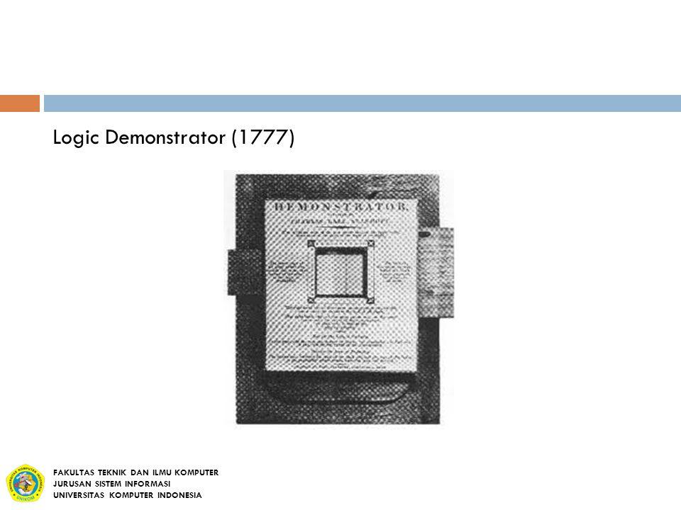 Logic Demonstrator (1777) FAKULTAS TEKNIK DAN ILMU KOMPUTER JURUSAN SISTEM INFORMASI UNIVERSITAS KOMPUTER INDONESIA