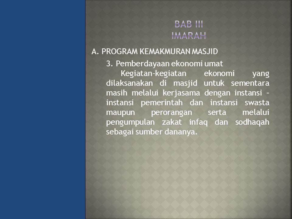 A.PROGRAM KEMAKMURAN MASJID 3.